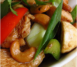 50. Pad Med Mamuang with Chicken ( Stir fried Cashew Nuts )